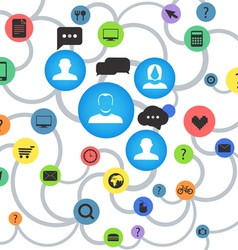 Abstract social media scheme vector image