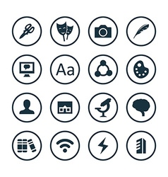 art design icons universal set vector image vector image