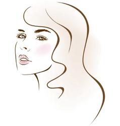 beauty girl vector image
