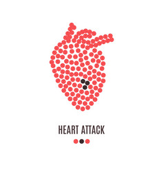 heart attack awareness poster vector image vector image