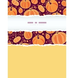 Thanksgiving pumpkins vertical torn frame seamless vector image vector image