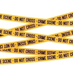 Crime scene yellow tape vector image