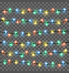 Glowing lights for xmas holiday greeting card vector