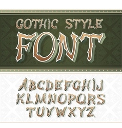 vintage label font Retro style vector image