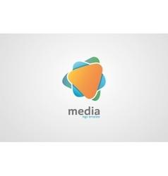 Abstract colored logo Media logo vector image