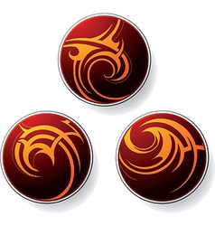 Circular tribal icons vector image vector image