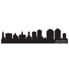 Halifax Canada skyline Detailed silhouette vector image