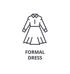 office formal dress line icon outline sign vector image vector image