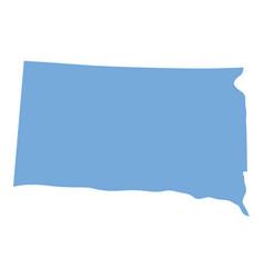 south dakota state map vector image