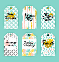 summer time trendy gift labels vector image