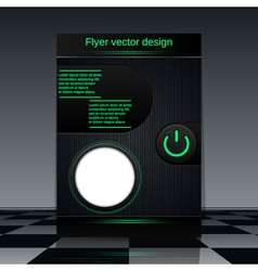 Technology flyer vector image