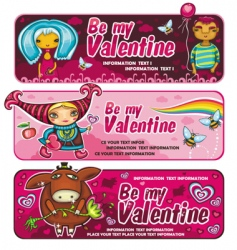 Val banners vector image
