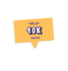 10 k followers post template design vector