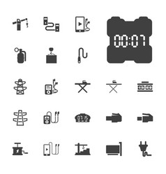 22 cable icons vector