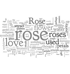 a rose is not just a rose vector image