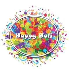 Abstract for Happy Holi colourful background vector