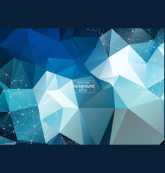 abstract futuristic - molecules technology with vector image