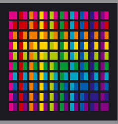 Abstract rainbow color palette combination vector