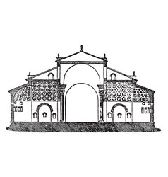 Basilica of maxentius great intersecting vaults vector