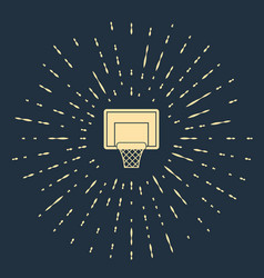 Beige basketball backboard icon isolated on blue vector