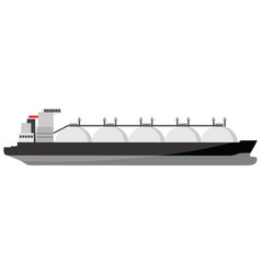 Big lng tanker icon vector