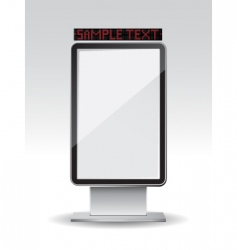 billboard frame vector image