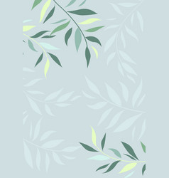branches leaves vector image