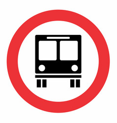bus traffic sign vector image