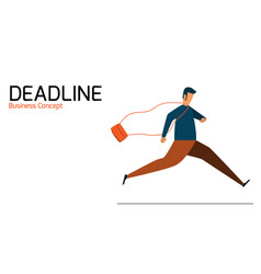 businessman running management time in deadline vector image