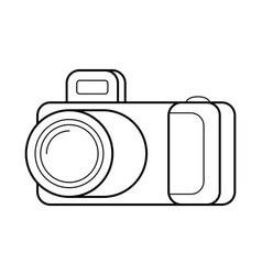 camera line art simple gadget icon vector image