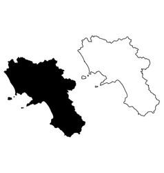 Campania map vector