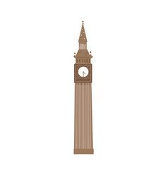 Cartoon big ben clock tower london england symbol vector