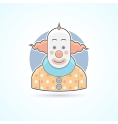 Circus clown joker funnyman icon vector