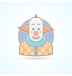 Circus clown joker funnyman icon vector image