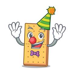 Clown graham cookies mascot cartoon vector