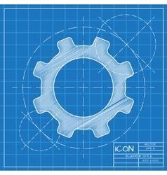 Cogwheel icon Eps10 vector