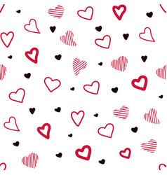 color pattern with hearts chaotic pattern hearts vector image