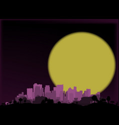 Dark city vector