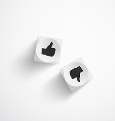 Dice on white background vector