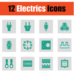 Electrics icon set vector