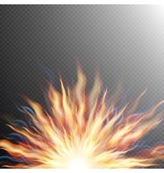 Explosion big bang fire burst EPS 10 vector image