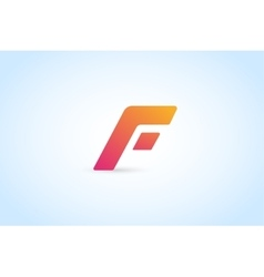 Fast line letter icon logo monogram vector image