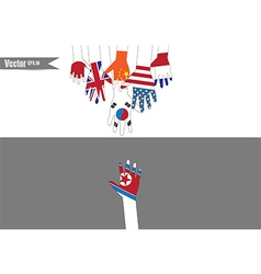 Flag hands vector