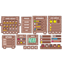 Game gui 8 vector