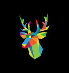 geometric deer image vector image