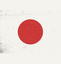 grunge japan flag abstract japan patriotic vector image