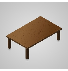 Isometric woden kitchen table vector image