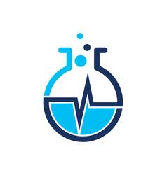 Lab logo icon design vector