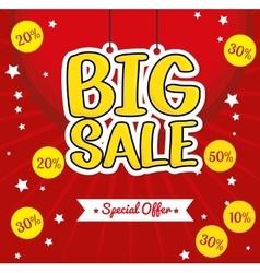 lettering hanging big sale special offer vector image