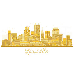 louisville kentucky usa city skyline silhouette vector image